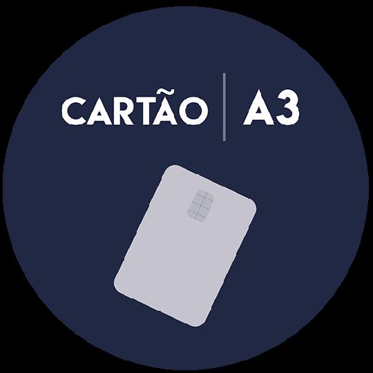 Cartão inteligente para certificados digitais do tipo A3
